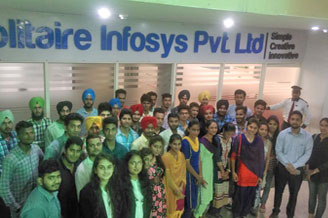 Industrial Visit to HCL and Solitaire Infosys Pvt Limited Mohali